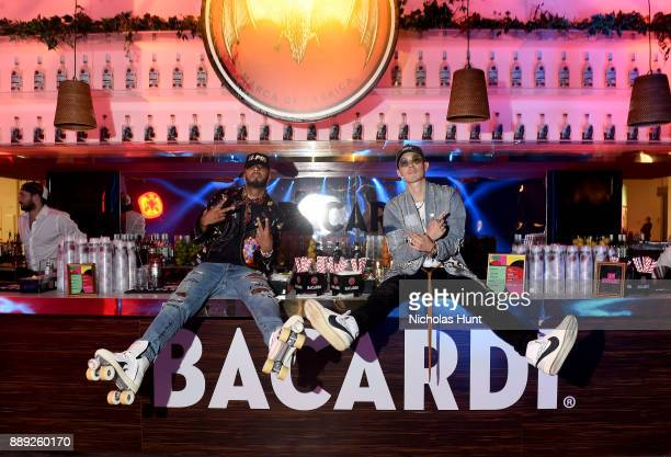 Swizz Beatz and Van Ness Wu attend BACARDI Swizz Beatz and The Dean Collection bring NO COMMISSION back to Miami to celebrate Island Might at Soho...