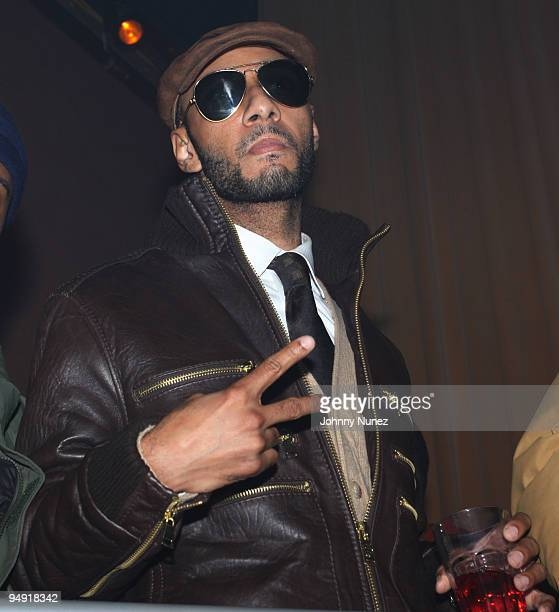 Swizz Beatz attends a party at M2 Ultra Lounge on December 18, 2009 in New York City.