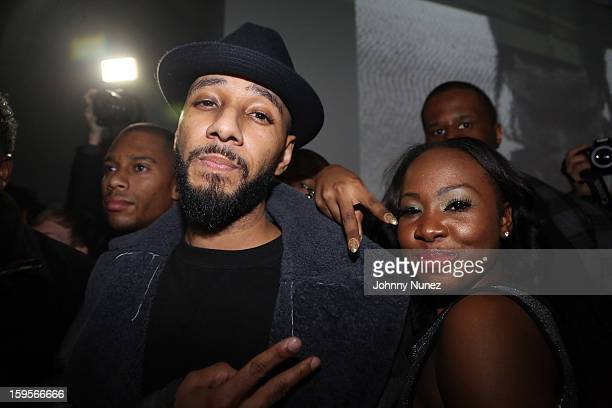 Swizz Beatz attends A$AP Rocky's 'LOVELIVEA$AP' Album Release Party at The Hole on January 15 2013 in New York City