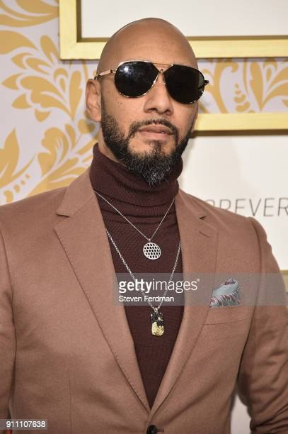 Swizz Beatz attends the 2018 Roc Nation PreGrammy Brunch at One World Trade Center on January 27 2018 in New York City