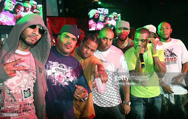 Swizz Beatz DJ Enuff Saigon Rene Mclean Common Kanye West Talib Kweli and Mos Def attends Pepsi Superstar DJ Contest Hosted By DJ Enough July 18th...