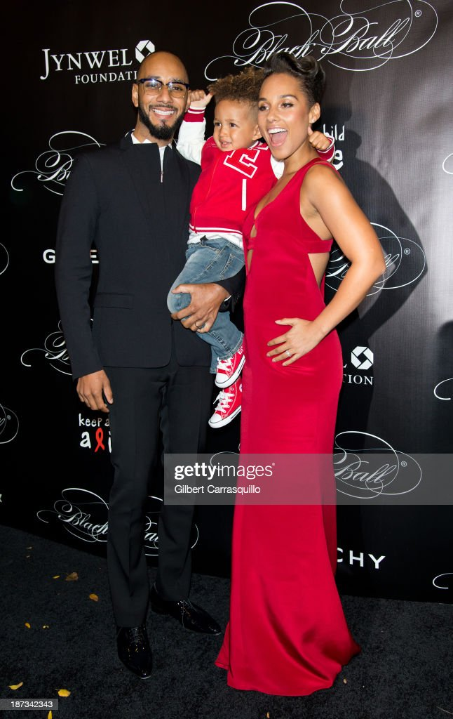 Swizz Beatz, Egypt Daoud Dean and Alicia Keys attend the 10th annual Keep A Child Alive Black Ball at Hammerstein Ballroom on November 7, 2013 in New York City.