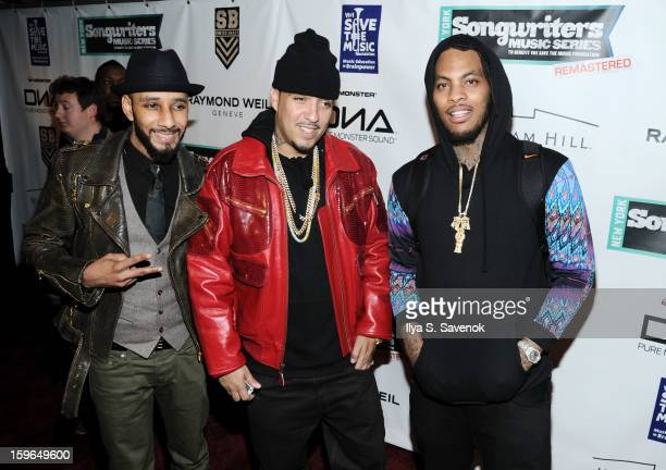 Swizz Beatz French Montana and Waka Flocka Flame attend The VH1 Save The Music Foundation's Songwriter Music Series With Swizz Beats at Hard Rock...