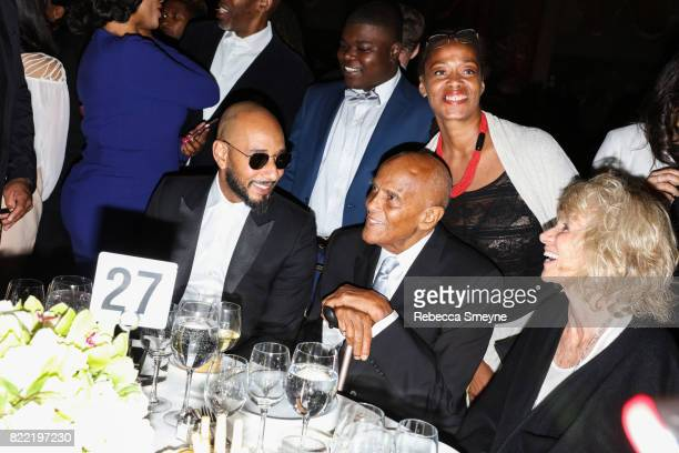 Swizz Beatz Harry Belafonte Malaak Shabazz and Pamela Frank attend the Gordon Parks Foundation Awards Dinner at Cipriani 42nd on June 6 2017 in New...
