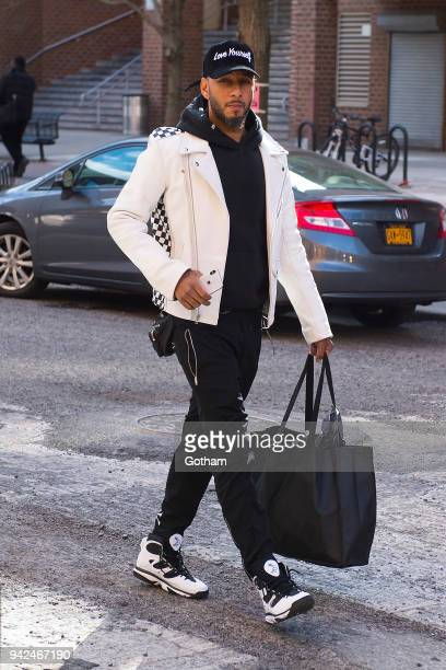 Swizz Beatz is seen in Tribeca on April 5 2018 in New York City