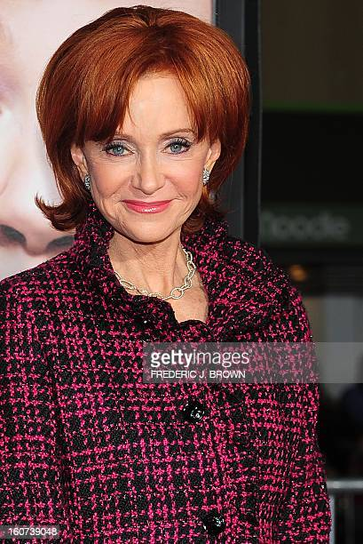 Swoozie Kurtz poses on arrival for the World Premiere of the film 'Identity Thief' in Los Angeles, California, on February 4, 2013. The films opens...