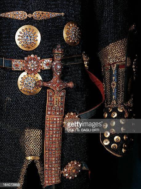 Sword and decorations from the armour of Sultan Mustafa III Ottoman manufacturing 18th century Istanbul Topkapi Sarayi Muzesi
