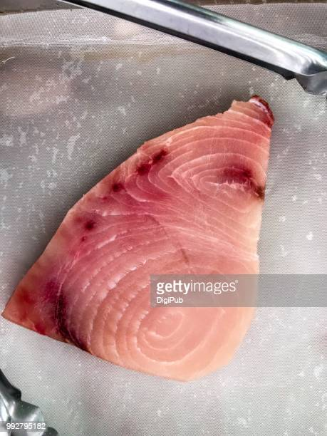 swordfish fillet - swordfish stock pictures, royalty-free photos & images
