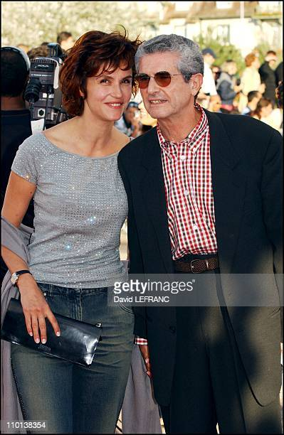 "Swordfish"" movie premiere at the American film festival - Claude Lelouch and Alessandra Martines in Deauville, France on September 01, 2001."