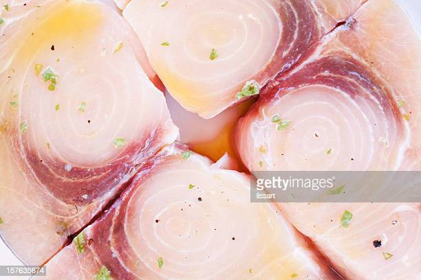 swordfish steaks ready to grill - swordfish stock pictures, royalty-free photos & images