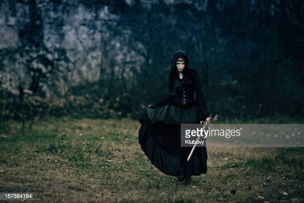 swordswoman - mulher guerreira imagens e fotografias de stock