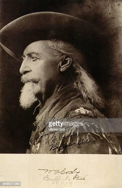 SWPostkarte von 1903 Portrait Buffalo Bill alias Bill Cody mit Hut Showman und Bisonjäger