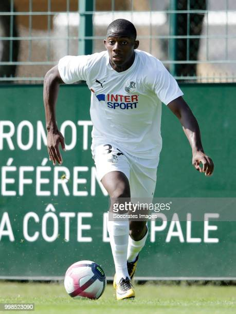Sy Samassy of Amiens SC during the Club Friendly match between Amiens SC v UNFP FC at the Centre Sportif Du Touquet on July 13 2018 in Le Touquet...