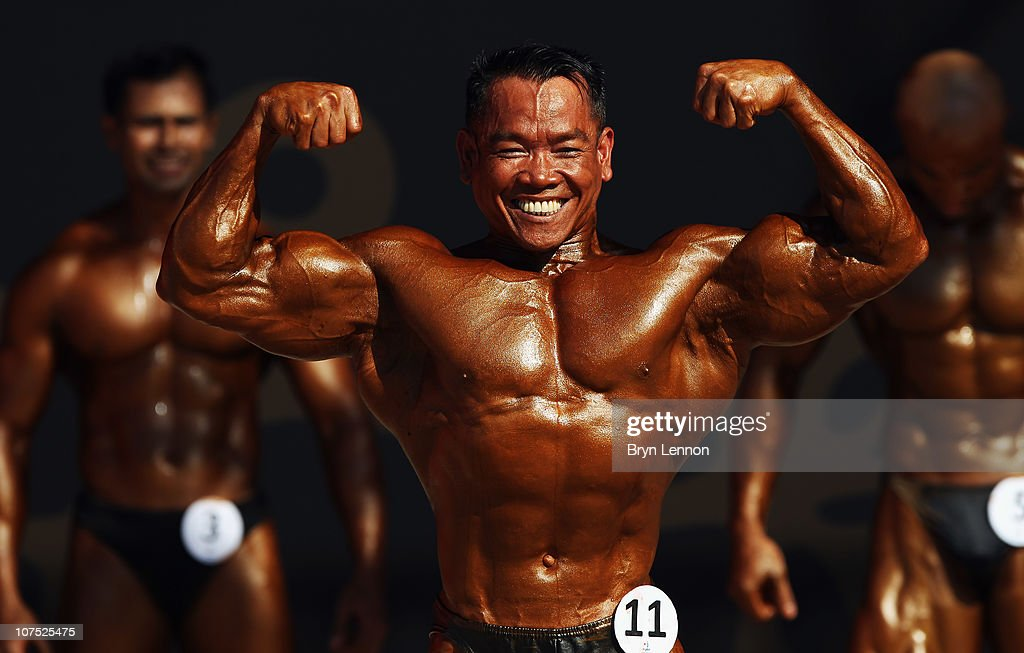 Syafrizaldy Of Indonesia Competes In The Bodybuilding Event