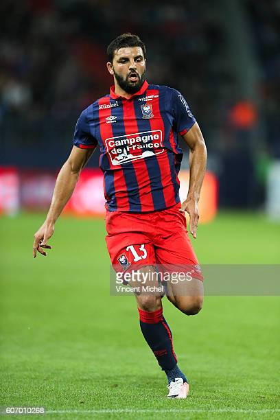 Syam Ben Youssef of Caen during the Ligue 1 match between SM Caen and Paris Saint Germain at Stade Michel D'Ornano on September 16 2016 in Caen France