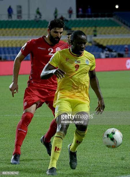 Syam Ben Youssef of Tunisia in action during the 2017 Africa Cup of Nations group B football match between Zimbabwe and Tunisia at the l'Amitié...