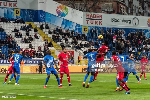 Syam Habib Ben Youssef of Kasimpasa AS Mbaye Diagne of Kasimpasa AS Diego Ângelo de Oliveira of Antalyaspor AS Kenneth Josiah Omeruo of Kasimpasa AS...