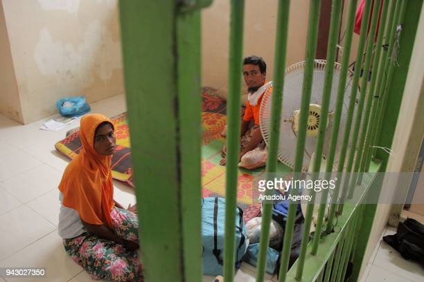Syamimah and M Ilyas take a rest at one of immigration offices rooms in Langsa Aceh on Saturday 7 2018 Acehnese fishermen succeeded to rescue the...