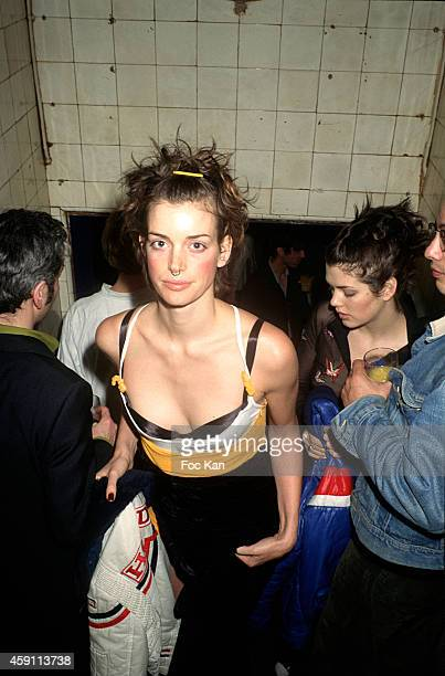 Sybil Buck attends a fashion week Party at Les Bains Douches in the 1990s in Paris France