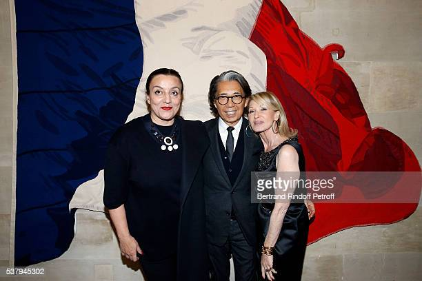 Sybil Laribi Kenzo Takada and Ruth Elkrief attend Kenzo Takada Is Honoured With The Insignes of Chevalier De La Legion D'Honneur at Conseil...