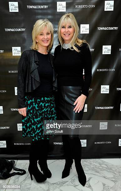 Sybil Orr and Irena Medavoy attend Town Country's Stellene Volandes and Irena Medavoy Celebrate The Golden Globes with a preview of Roberto Coin's...