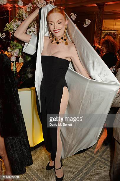 Sybil Rouge attends a private view of new exhibition 'Undressed A Brief History Of Underwear' at The VA on April 13 2016 in London England