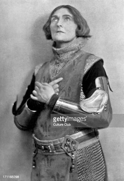 Sybil Thorndike as Saint Joan c 1924 From the Irish author George Bernard Shaw's play 'Saint Joan'