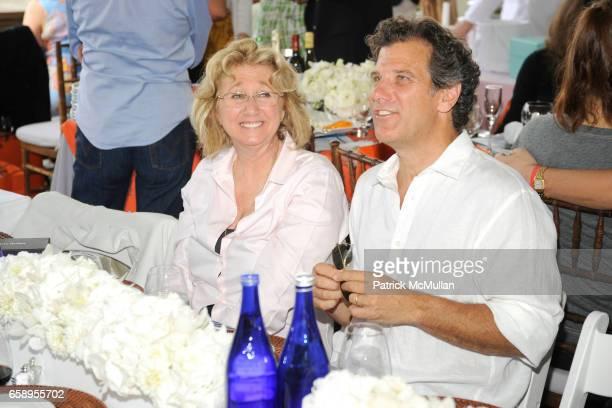 Sybil Yurman and Andy Arons attend DAVID YURMAN Celebrates the 34th Annual HAMPTON CLASSIC at The Grand Prix Tent on August 30 2009 in Bridgehampton...