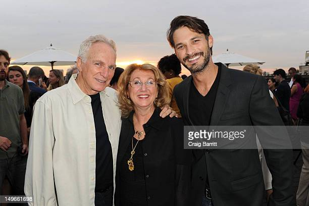 Sybil Yurman David Yurman and model Ben Hill at the David Yurman annual rooftop soiree at David Yurman Rooftop on August 1 2012 in New York City