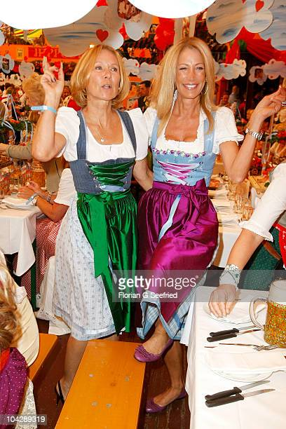 Sybille Beckenbauer and Pilar Brehme attend the 'Sixt Damenwiesn' during the Oktoberfest 2010 at Hippodrom at Theresienwiese on September 20 2010 in...