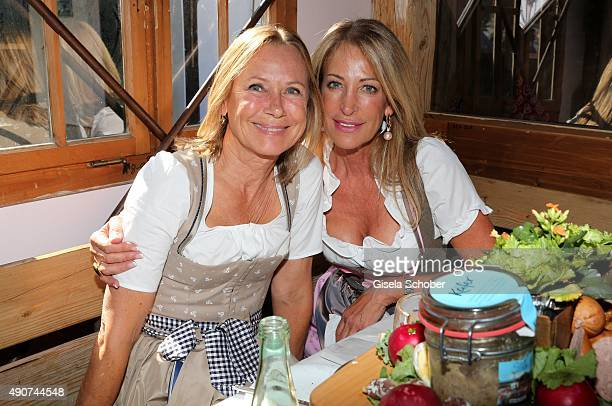 Sybille Beckenbauer and Pilar Brehme during the Oktoberfest 2015 at Kaeferschaenke / Theresienwiese on September 30 2015 in Munich Germany