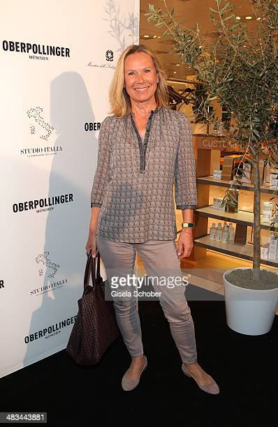 Sybille Beckenbauer attends the 'Studio Italia La Perfezione del Gusto' grand opening at Oberpollinger on April 8 2014 in Munich Germany