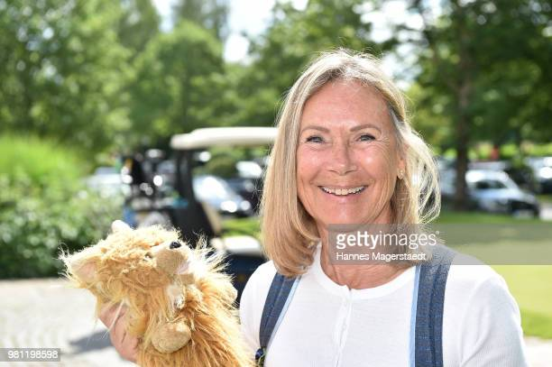 Sybille Beckenbauer during the 7 M M EAGLES Charity LEDERHOS'N Golf Cup 2018 at Golfclub Castle EGMATING on June 22 2018 in Munich Germany In...