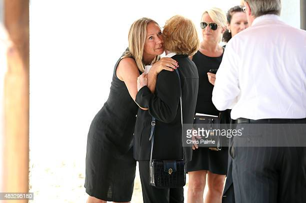 Sybille Beckenbauer during the memorial service for Stephan Beckenbauer at church 'St Heilige Familie' on August 7 2015 in Munich Germany Stephan...