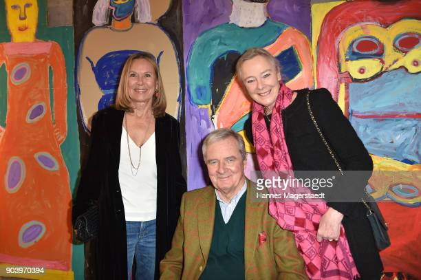 Sybille Beckenbauer Prinz Peter zu Hohenlohe and Prinzessin Uschi zu Hohenlohe during 'Der andere Laufsteg' exhibition opening in Munich at...