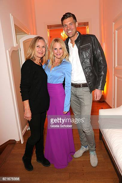 Sybille Beckenbauer Sonja Kiefer and her boyfriend Cedric Schwarz during the birthday party for the 10th anniversary of ICON at Nymphenburg Palais No...