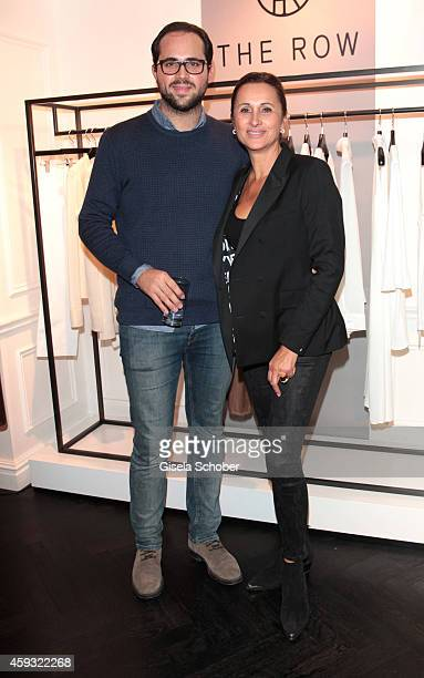 Sybille Mang and her son Thomas Mang during MaryKate Olsen and Ashley Olsen present their collection 'The Row' at Marion Heinrich on November 20 2014...