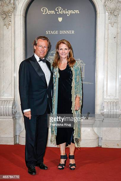 Sybille Wasmuth and Dirk von Haeften attend the Dom Perignon Stage Dinner on August 18, 2014 in Hamburg, Germany.