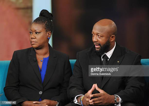 THE VIEW Sybrina Fulton and Tracy Martin the parents of Trayvon Martin are joined by their attorney Benjamin Crump today Thursday July 18 2013 on...