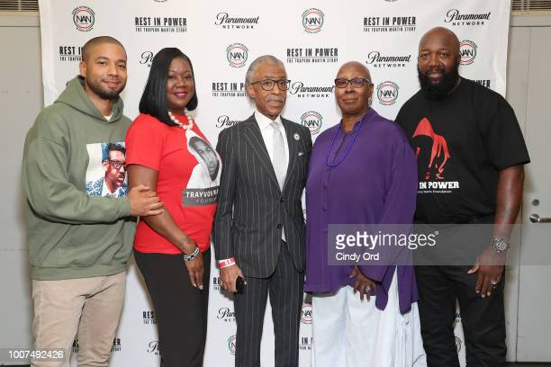 Sybrina Fulton Jussie Smollett Al Sharpton Judith Jamison and Tracy Martin attend the Screening And Panel For Rest In Power The Trayvon Martin Story...