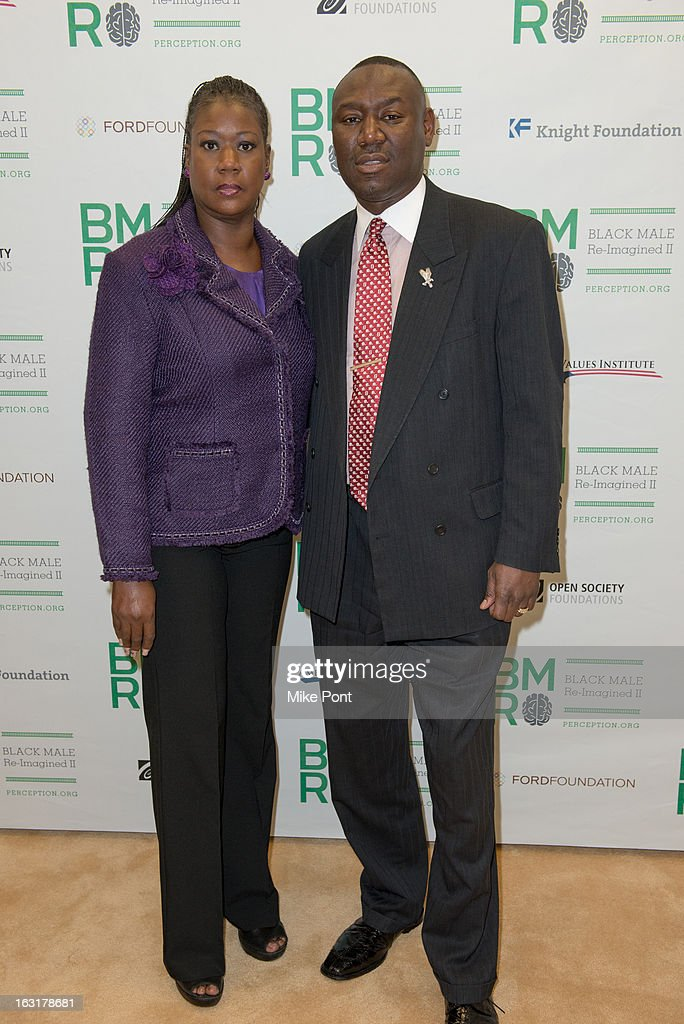 Sybrina Fulton, mother of Trayvon Martin, and Attorny Ben Crump attend Black Male: Re-Imagined II at Ford Foundation on March 5, 2013 in New York City.