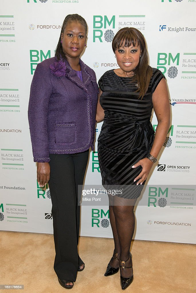 Sybrina Fulton, mother of Trayvon Martin, and Star Jones attend Black Male: Re-Imagined II at Ford Foundation on March 5, 2013 in New York City.