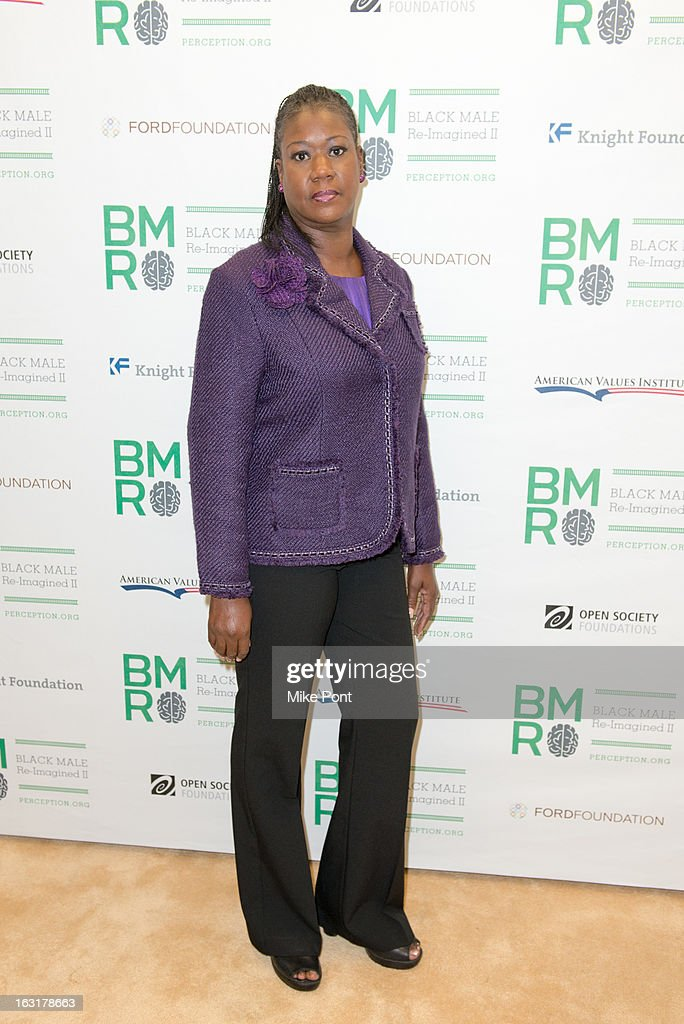 Sybrina Fulton, mother of Trayvon Martin attends Black Male: Re-Imagined II at Ford Foundation on March 5, 2013 in New York City.