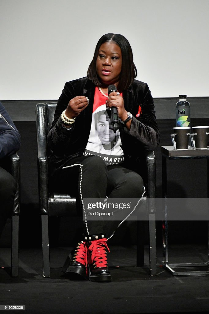 Sybrina Fulton speak at the 'Rest In Power: The Trayvon Martin Story' premiere during the 2018 Tribeca Film Festival at BMCC Tribeca PAC on April 20, 2018 in New York City.