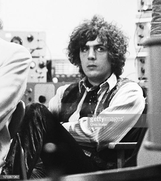 Syd Barrett founding singer songwriter and guitarist of Pink Floyd at a 1967 BBC Radio taping