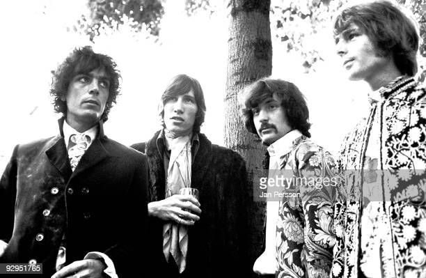 Syd Barrett Roger Waters Nick Mason and Rick Wright of Pink Floyd pose for a group portrait on September 11th 1967 in Copenhagen Denmark