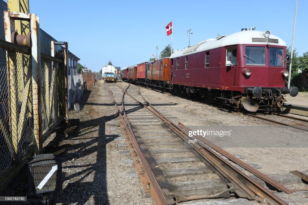Syd Fyenske Veteranjernbane Veteran Railway in Denmark : Stock Photo