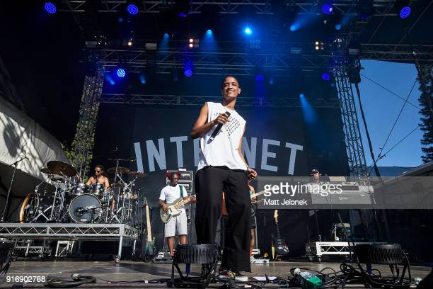 Syd Tha Kyd from The Internet performs on stage at St Jerome's Laneway Festival on February 11 2018 in Fremantle Australia