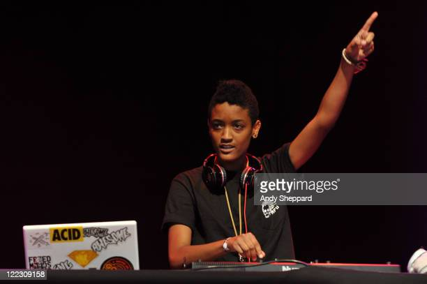 Syd The Kid of Odd Future Wolf Gang Kill Them All aka OFWGKTA performs on stage during Day 2 Reading Festival 2011 at Richfield Avenue on August 27,...