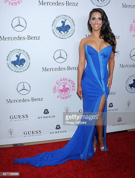 Syd Wilder arrives at the 2014 Carousel Of Hope Ball Presented By MercedesBenz at The Beverly Hilton Hotel on October 11 2014 in Beverly Hills...
